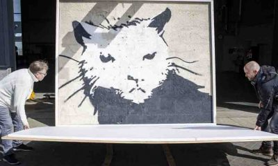 Banksy'nin en büyük eserlerinden biri açık artırmada 380 bin Euro'ya satıldı