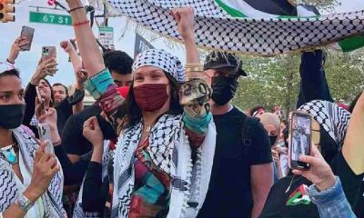 Bella Hadid'den Filistin'e destek yürüyüşü