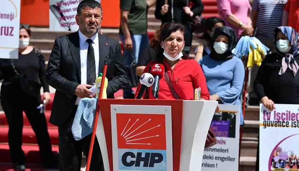 """CHP'li Ağbaba temizlik işçisi kadınlarla buluştu: """"Biz vileda değiliz, sigortam olsun istiyorum"""""""