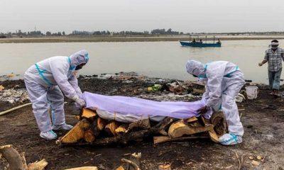 Hindistan'da Kovid-19'dan ölenlerin cansız bedenleri Ganj Nehri kıyısına vurdu