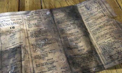 İngiltere'de 108 yıllık menü bulundu: 'Kirişlerden zaman kapsülü çıktı'