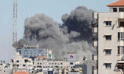 İsrail ordusu, Gazze'de uluslararası televizyonların bulunduğu binayı bombaladı