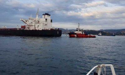 İstanbul Boğazı'nda ham petrol taşıyan tanker, kıyıya sürüklendi: Boğaz gemi trafiğine kapatıldı