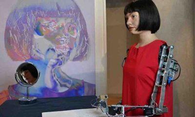 İlk ressam robot Ai-Da yeni sergisini açtı
