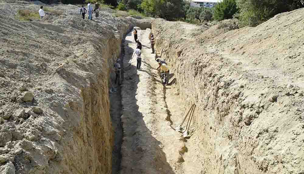 İnşaat alanında Milattan Önce 1'inci yüzyıla ait su kemeri bulundu