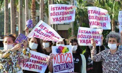İstanbul Sözleşmesi protestolarına katılan Mersinli kadınlara 130 bin Türk Lirası'na yakın ceza!