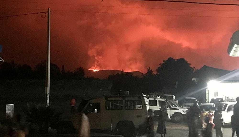 Kongo'daki Nyiragongo yanardağı patladı, bölgede yaşayanlar tahliye ediliyor