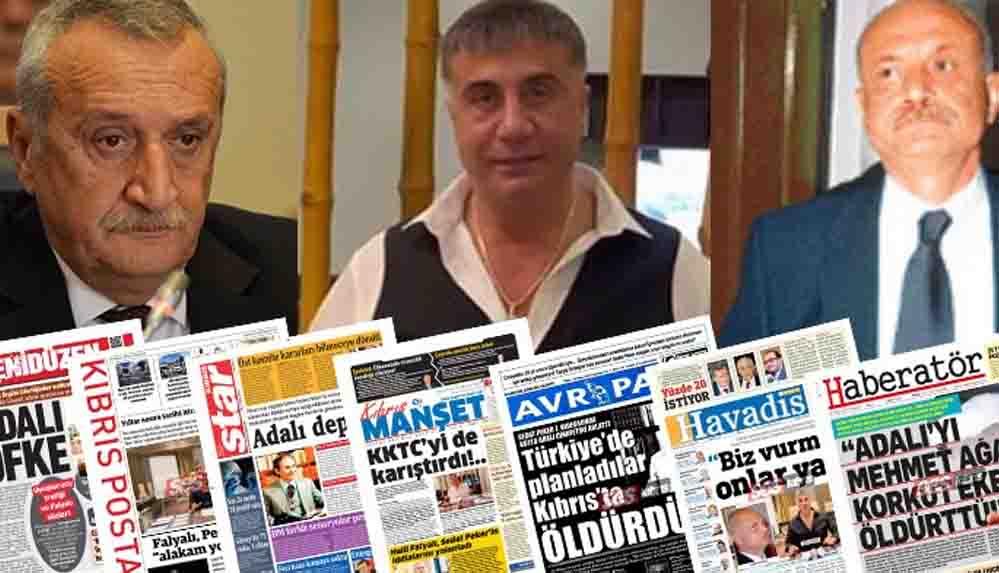 Kuzey Kıbrıs'ta gazeteler Sedat Peker'i manşetlere taşıdı