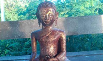 Müzeden kaybolan nadir heykel, otobüs durağında bulundu