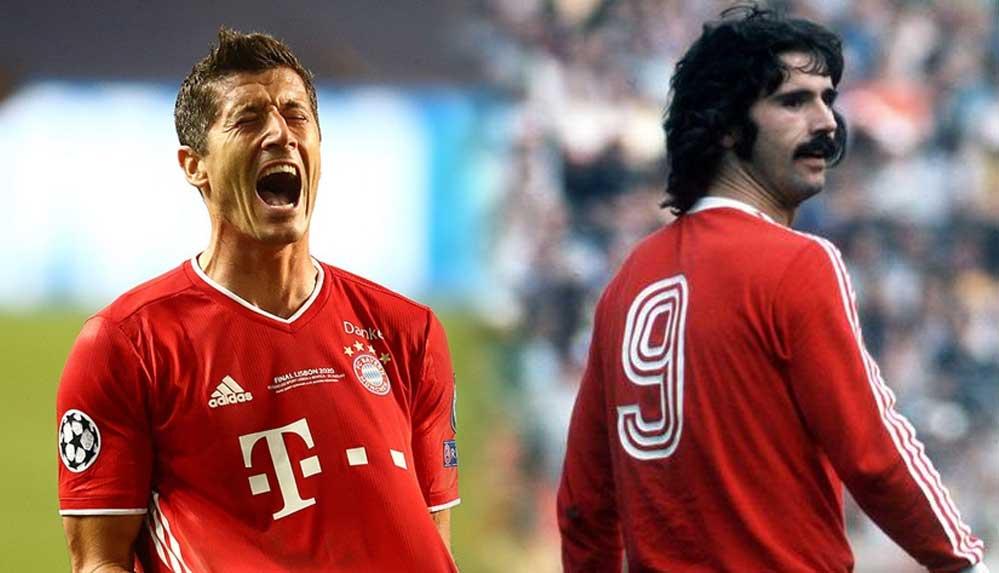 Robert Lewandowski, efsane Alman futbolcu Gerd Müller'in rekorunu kırdı