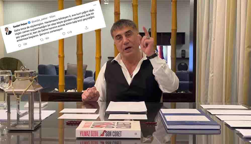 Sedat Peker'den çok konuşulacak 'Defne' tweeti: Anlatmaya başlarım