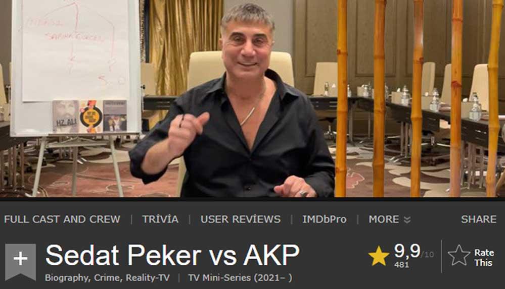 Sedat Peker'in videoları dünyaca ünlü film sitesi IMDb'ye eklendi