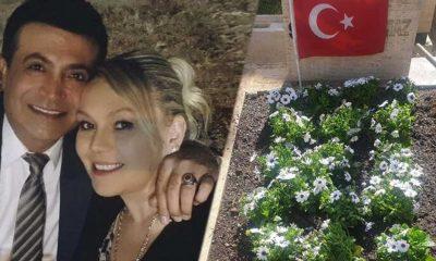 Vefat eden Oğuz Yılmaz'ın mezarını ziyaret eden eşi Aylin Yılmaz: Birbirimize doyamadık