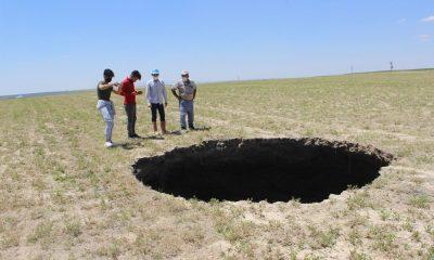 Konya'da 65 metre derinliğinde obruk oluştu