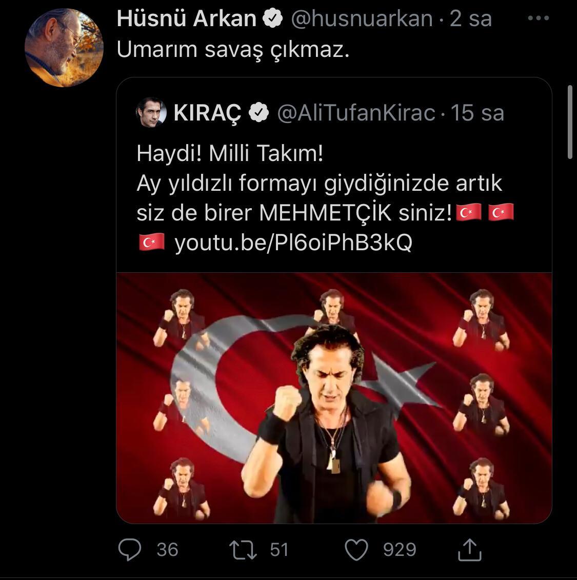 """Kıraç'ın milli takım için yaptığı şarkıya tepki yağdı: """"Savaşa mı gidiyoruz spor turnuvasına mı?"""""""