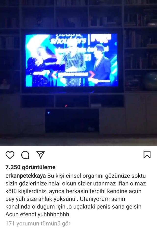 Erkan Petekkaya'dan Acun Ilıcalı'ya Kerimcan Durmaz tepkisi: Acun efendi yuh!