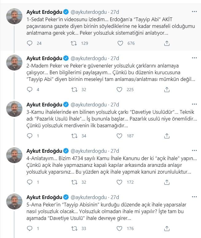 """Aykut Erdoğdu: Peker'in """"Tayyip Abisinin"""" kurduğu düzeni parça parça edeceğiz…"""