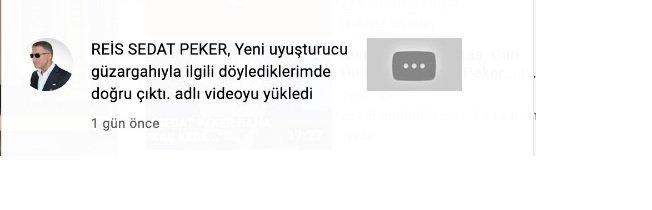 Sedat Peker, YouTube'a yüklediği yeni videoyu hemen kaldırdı