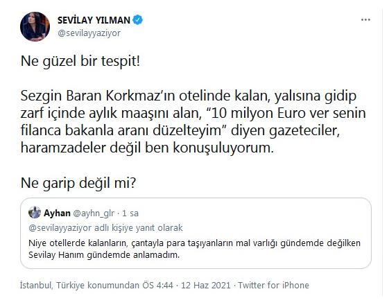 """Sezgin Baran Korkmaz'a """"10 milyon Euro ver bakanla aranı düzelteyim"""" diyen gazeteci kim?"""