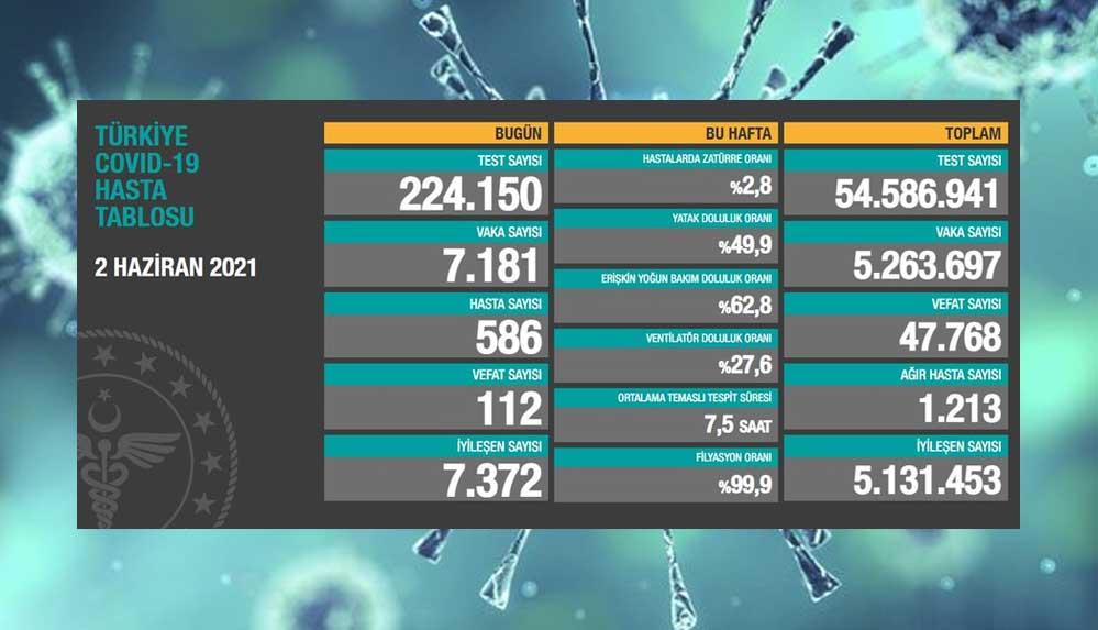 Türkiye'nin 2 Haziran koronavirüs tablosu açıklandı