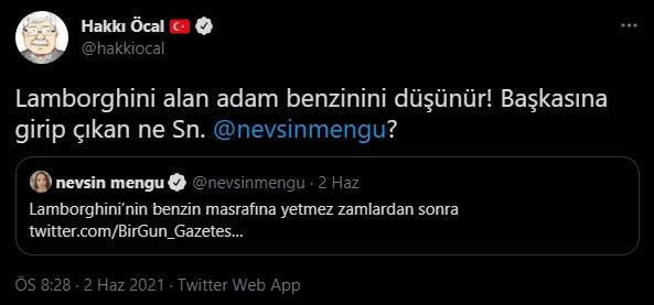 Milliyet yazarı Hakkı Öcal'dan Nevşin Mengü'ye çirkin sözler