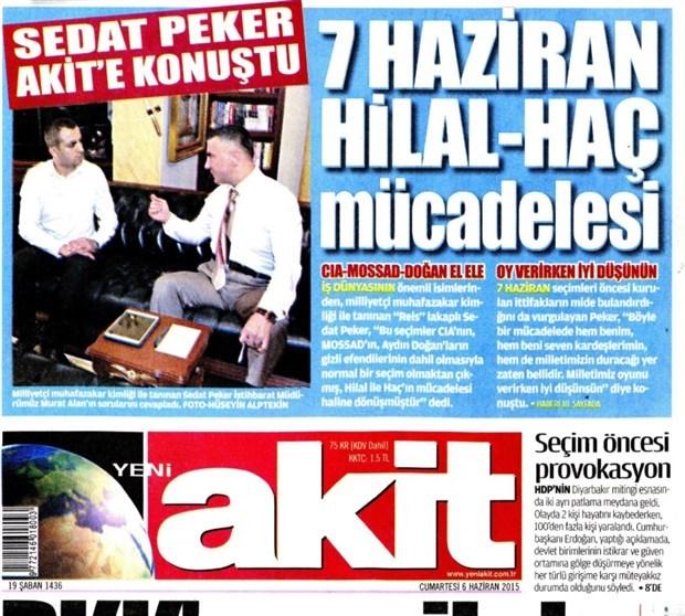 """Sedat Peker'den Akit'e: """"Bir şeyler söylemek farz oldu. Yarınki programa dahil edeceğiz"""""""