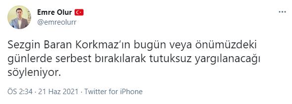 Sedat Peker cephesinden Sezgin Baran Korkmaz iddiası