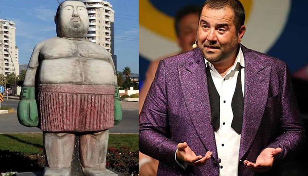 Ata Demirer'den Mersin'deki heykele tepki: Ne zahmet ettiniz