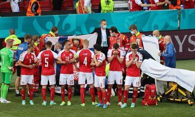 Danimarka - Finlandiya maçında Christian Eriksen fenalaştı, kalp masajı yapıldı