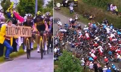 Fransa Bisiklet Turu'nda feci bir kazaya yol açan seyirci hakkında hapis cezası istendi