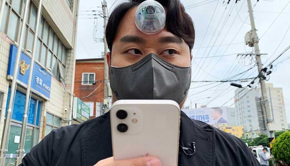 Güney Koreli tasarımcıdan telefon bağımlıları için 'üçüncü göz'