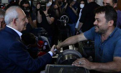 Kılıçdaroğlu'ndan elleri kirli olduğu için tereddüt eden esnafa: O eli sıkmaktan şeref duyarım