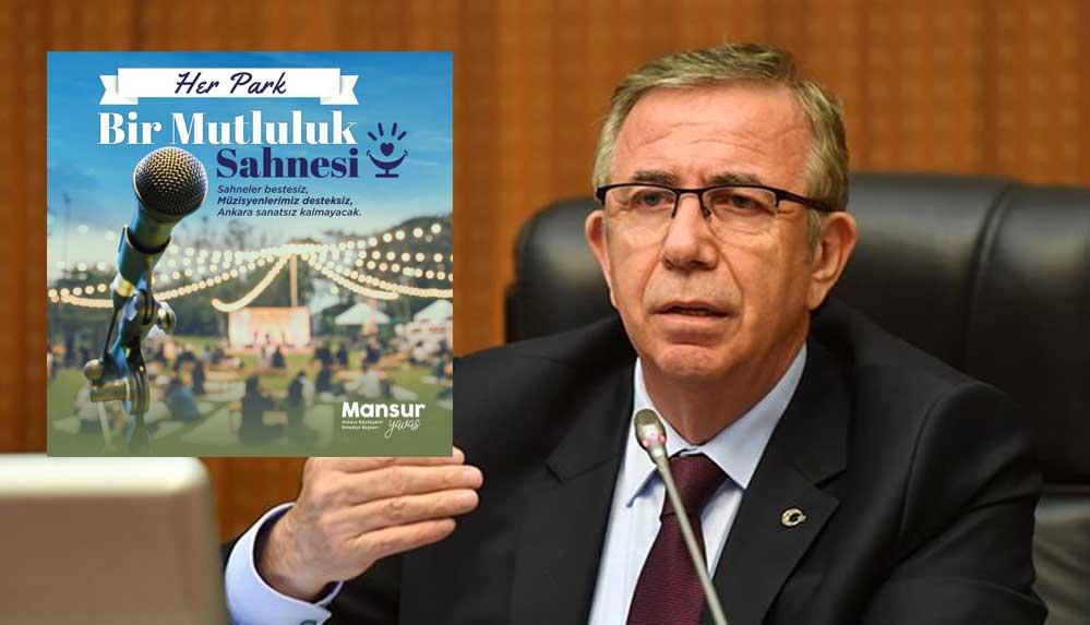 Mansur Yavaş duyurdu: 'Müzisyenler desteksiz kalmayacak' sloganıyla park konserleri düzenlenecek