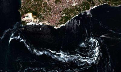 Marmara Denizi'ndeki müsilaj uzaydan böyle görüntülendi