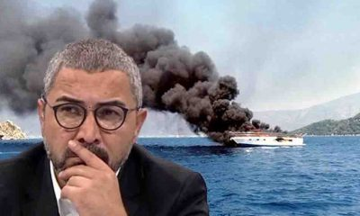 """Marmaris'te yanan tekne Veyis Ateş'in mi?"""
