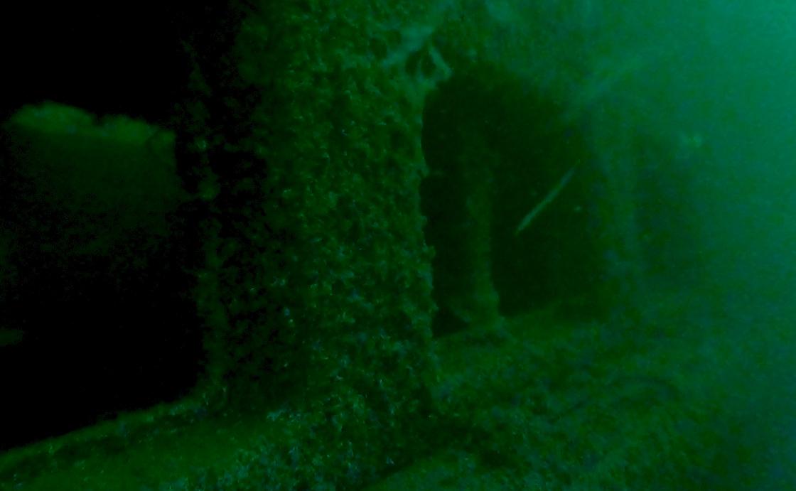 Su altındaki vapur müsilajla kaplandı