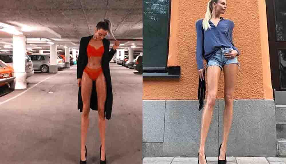 Sosyal medyanın gündemine oturdu: Bir metreden fazla bacak boyuyla rekora koşuyor