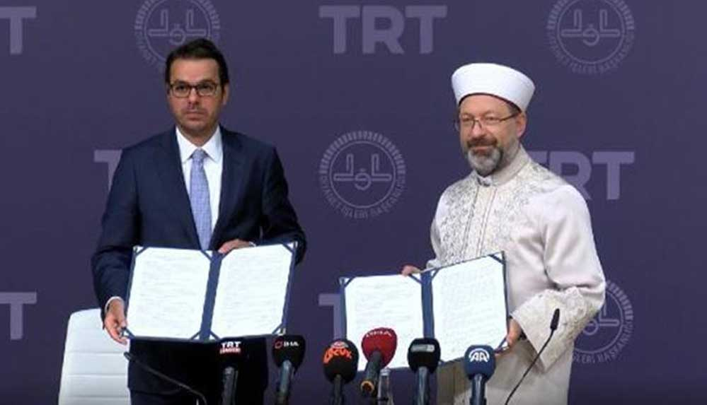 """""""TRT Diyanet Çocuk Kanalı"""" kurulması için TRT ile Diyanet İşleri arasında protokol imzalandı"""