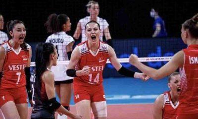 Türkiye Kadın Millî Voleybol Takımı'ndan Almanya'ya karşı zafer!