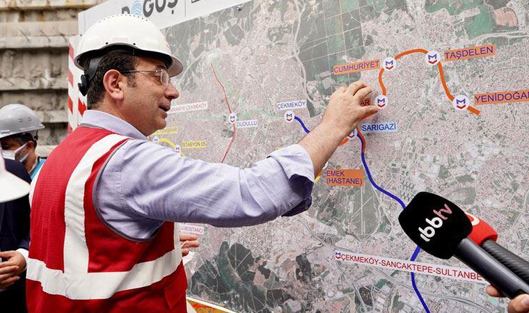 'İBB metro hattını durdurdu' iddialarına İmamoğlu cevap verdi