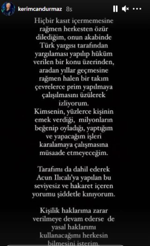 Erkan Petekkaya'ya Kerimcan Durmaz'dan yanıt: Prim çalışmasını üzülerek izliyorum