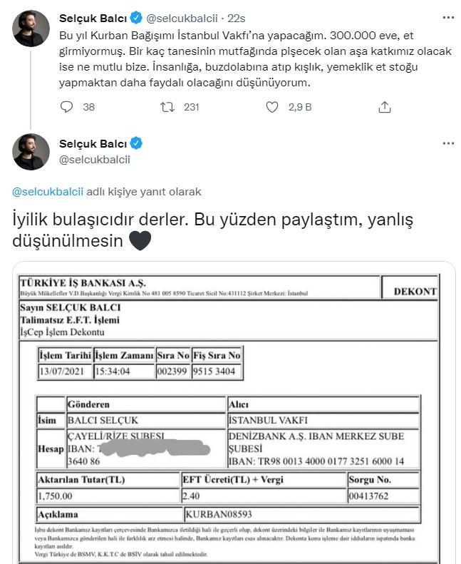 İmamoğlu'nun bağış çağrısına sanatçı Selçuk Balcı cevap verdi