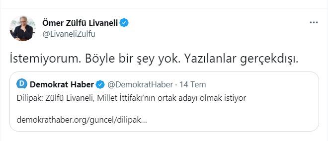 Zülfü Livaneli'den, 'cumhurbaşkanlığı adaylığı' açıklaması