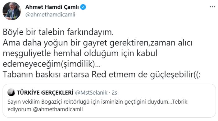 AKP'li Çamlı alay konusu oldu; 'Boğaziçi rektörlüğü' esprisini ciddiye aldı