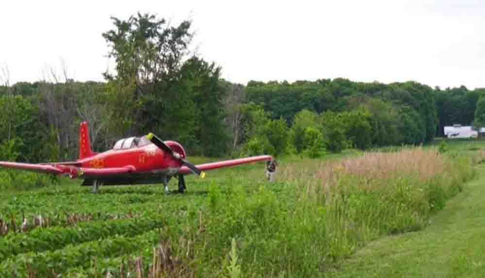 27 yaşındaki kadına çim biçerken uçak çarptı