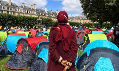 400 Evsiz, Fransa'nın Göbeğine Çadır Kurdu