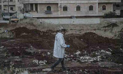 Afrin'de toplu mezarda bulunan ceset sayısının 61'e ulaştığı açıklandı