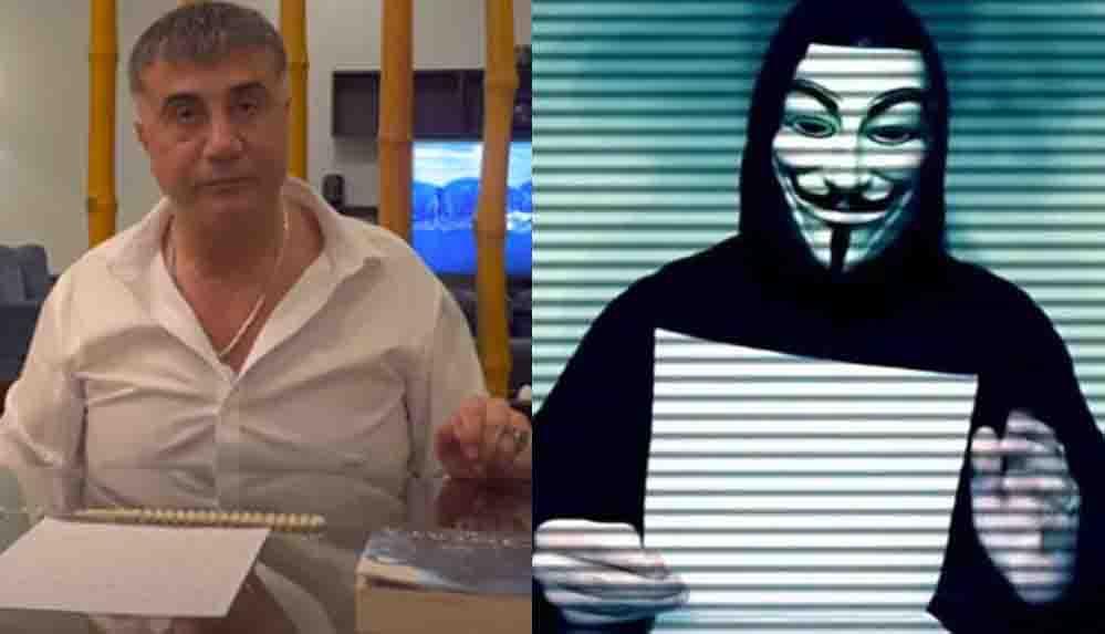 "Anonymous'tan Sedat Peker'e: ""Yürü git, faşist"""