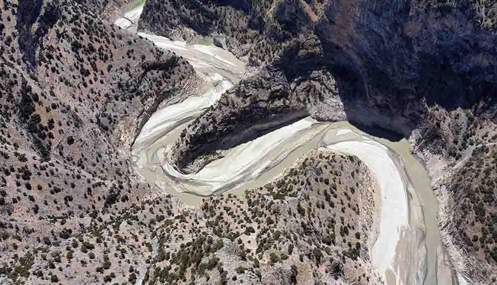 Aydın'daki Arapapıştı Kanyonu'ndaki sular kuraklık nedeniyle çekildi