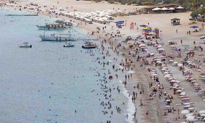 Bayram sonrası sahillerde yoğunluk devam ediyor